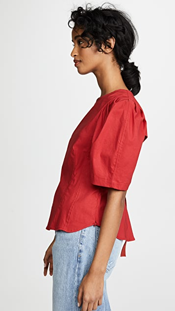 Sea Locklyn Puff Sleeve Top