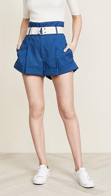 Sea Poppy High Waisted Shorts