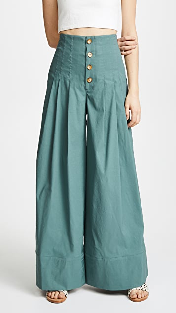 Sea Bernadette High Waist Pants - Salvia