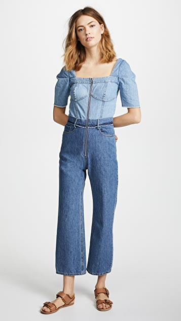 Sea Two Tone Jumpsuit