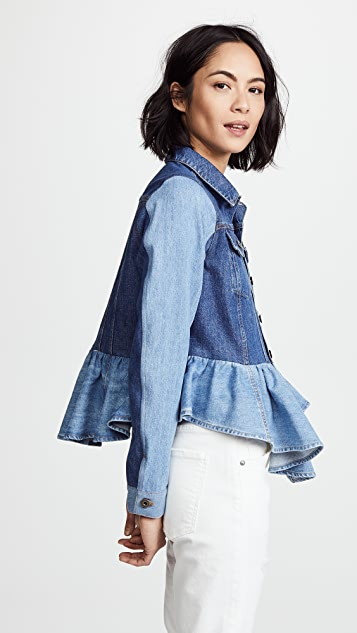 Sea Denim Peplum Jacket