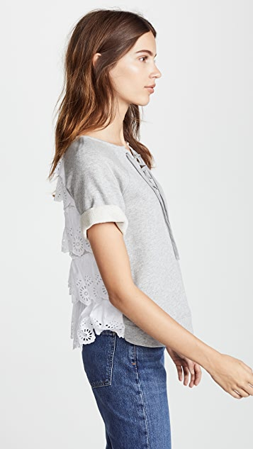 Sea Edie Ruffle Tier Top