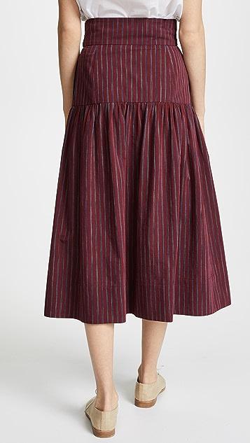 Sea Belted Midi Skirt