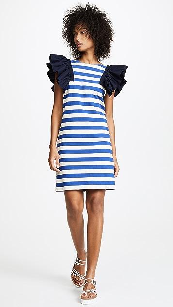 Sea St. Tropez Combo Dress - Blue/Cream Stripe