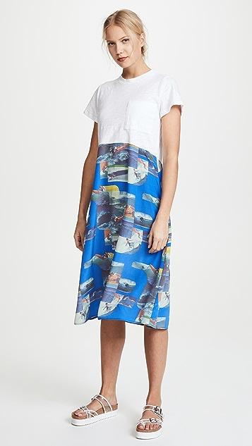 Sea Surf Print Combo Dress