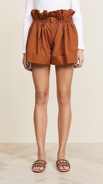 Sea Nova Windbreaker Shorts - Walnut