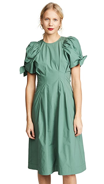 Sea Clover Puff Sleeve Dress