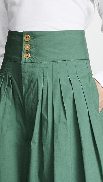 Sea 微褶裤子