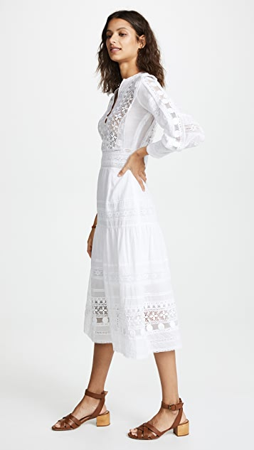 Sea Ila Lace Armour Maxi Dress
