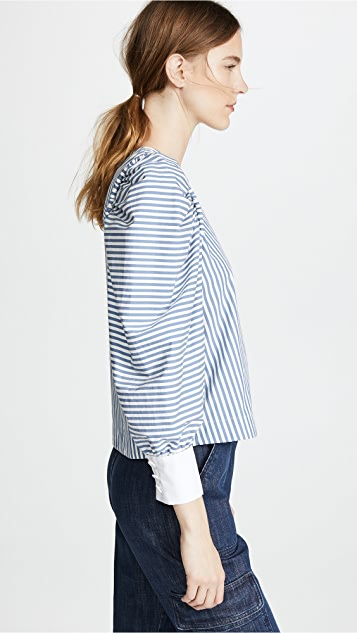 Sea Riviera Corded Peasant Top