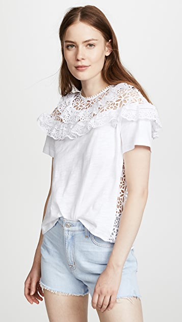Sea Eyelet Combo T-Shirt