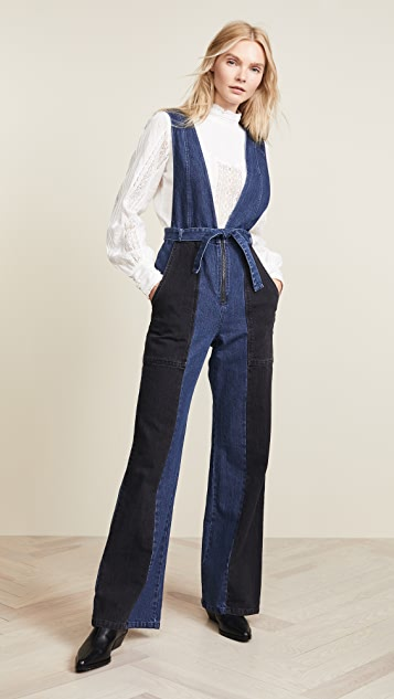 Sea 2 Tone Jumpsuit