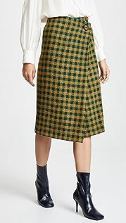 Sea Ethno Wrap Skirt
