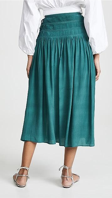 Sea Hemmingway Micro Pleated Midi Skirt