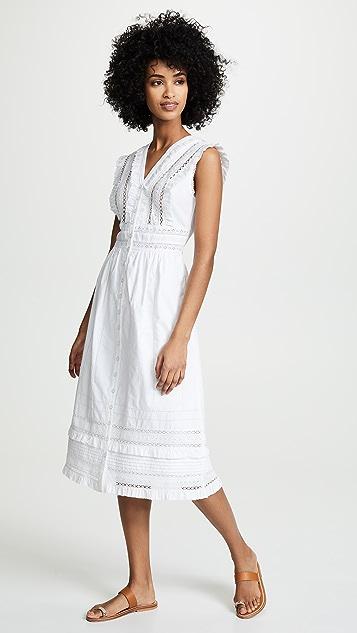 Sea Миди-платье без рукавов Lilli с кружевным шитьем