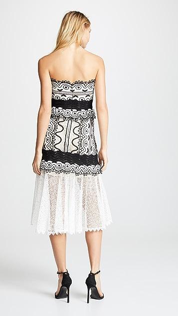 Sea Lola Lace Strapless Midi Dress
