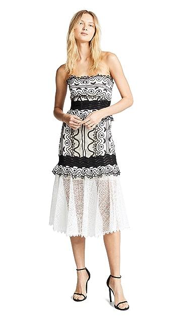 Sea Кружевное миди-платье без бретелек Lola