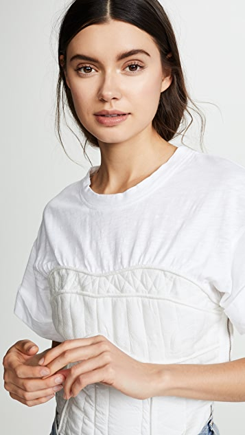 Sea O'Keefe Quilted Corset Tee