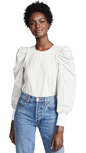 Sea Corded Long Sleeve Peasant Top