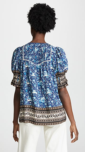 Sea Doe Print Blouse