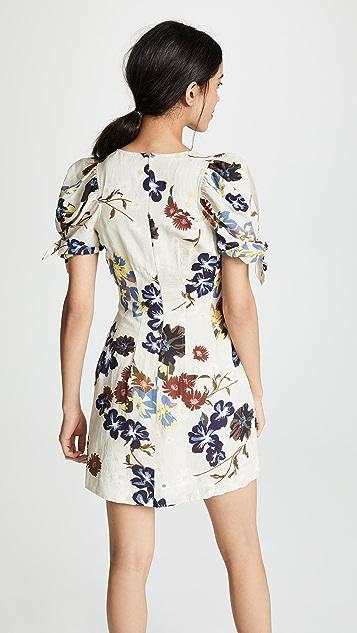 Sea Мини-платье с пышными рукавами