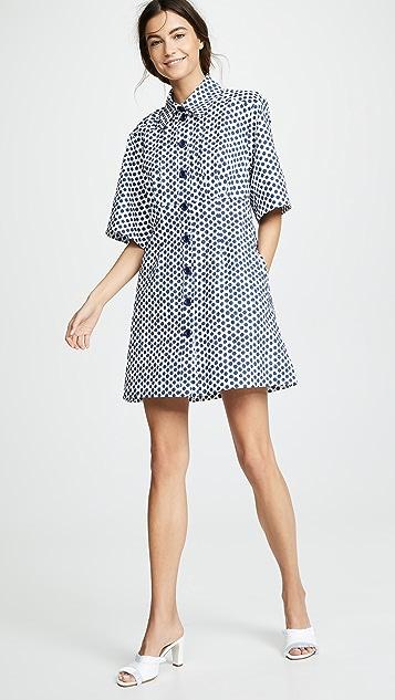 Sea Платье-рубашка в горошек