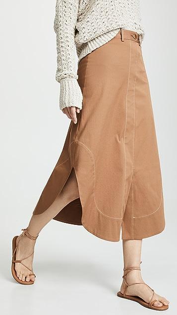 Sea Stella A-Line Shirttail Skirt