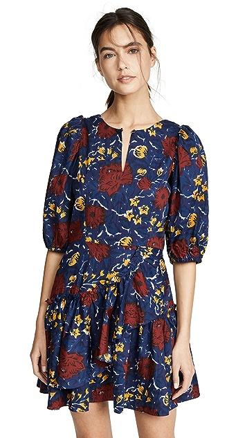 Sea Willow Ruffle Dress