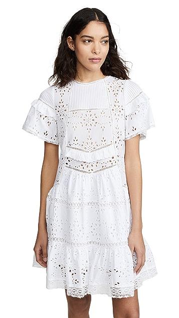 Sea Zinnia Short Sleeve Tunic Dress