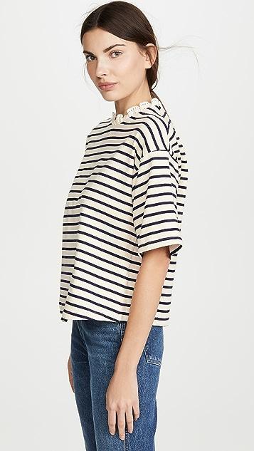 Sea Claudia 条纹 T 恤