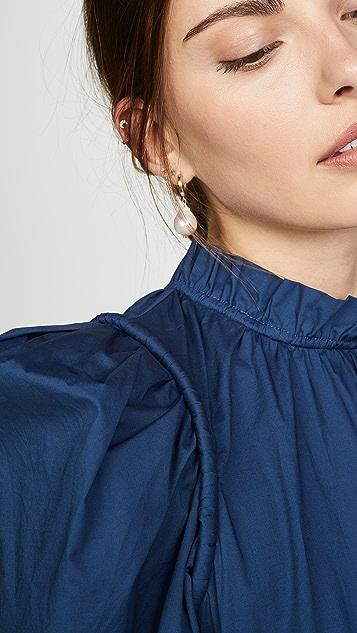 Sea Luna 绳索泡泡袖连衣裙