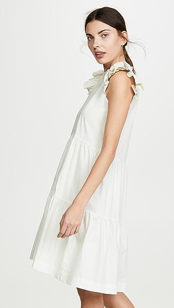 Sea Waverly 层褶长衫式连衣裙