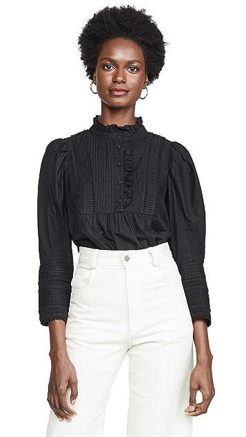 Sea Silva 泡泡袖女式衬衫