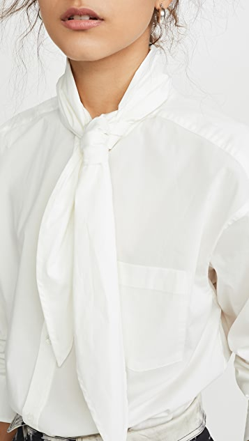 Sea Louise Neck-Tie Blouse
