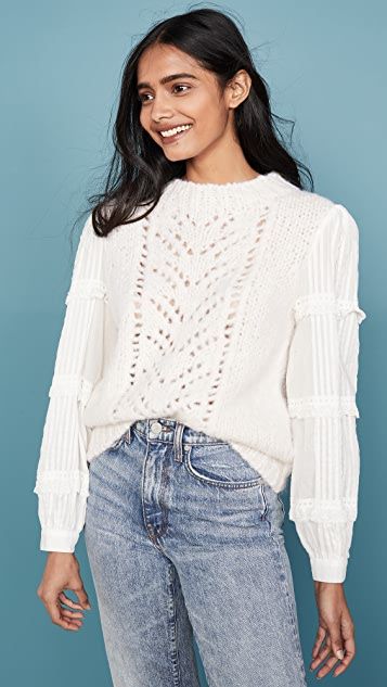 Sea Emma Eyelet Combo Sweater