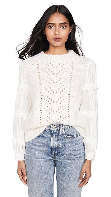 Sea Emma Eyelet Combo Sweater