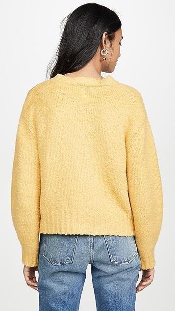 Sea Fae Fleece V Neck Sweater