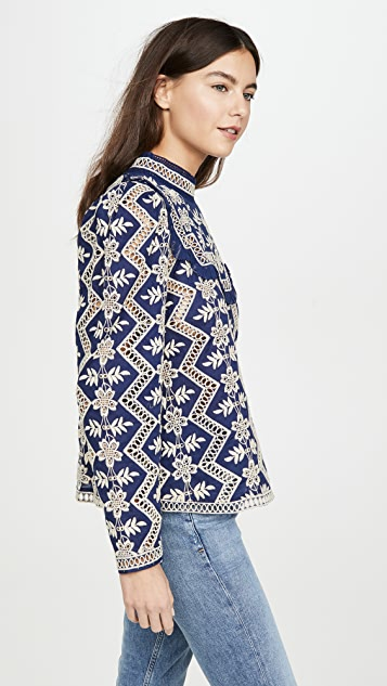 Sea 拉链长袖女式衬衫