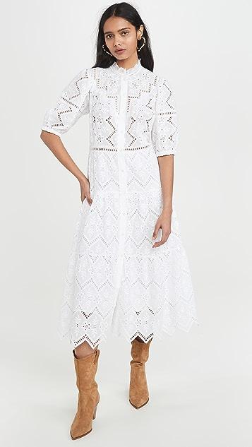 Sea Zippy Midi Dress