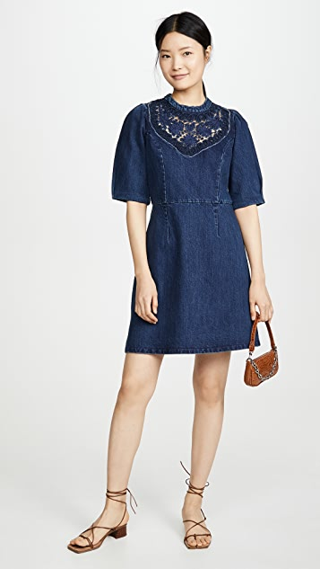 Sea Olivia Denim Soutach Dress