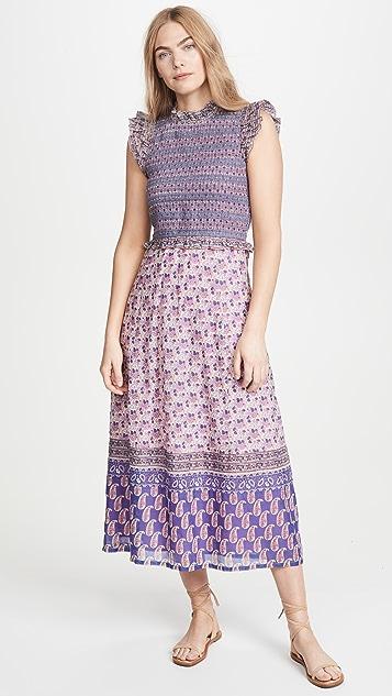 Sea Миди-платье со сборками Bianca