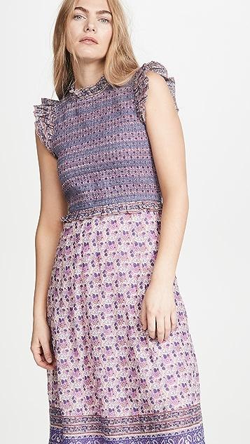 Sea Bianca Smocked Midi Dress