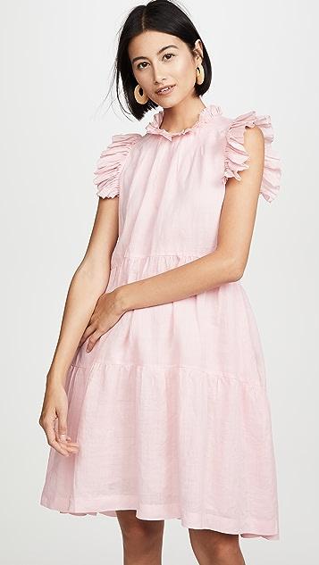 Sea Lucy 层褶长衫式连衣裙