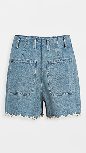 Sea Mara Scallop Edged Shorts