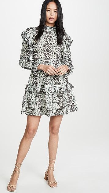 Sea Платье с рукавами и оборками Aurelia