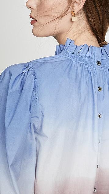 Sea 渐变色长袖女式衬衫