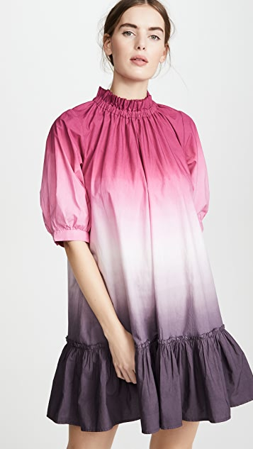 Sea 渐变色长衫式连衣裙