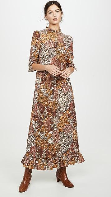 Sea Floral Jersey Dress