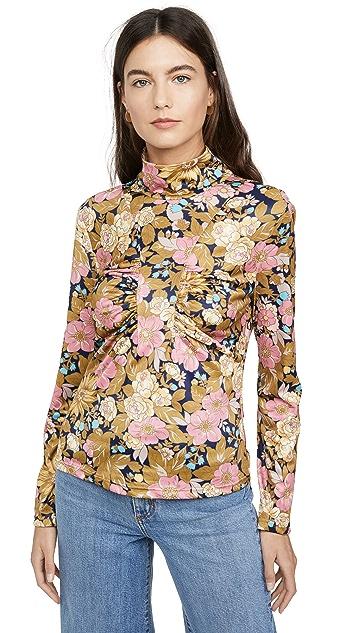 Sea 平针织花朵图案上衣