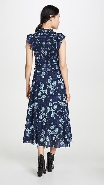 Sea Присборенное платье Monet
